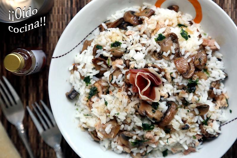 O do cocina ensalada de arroz at n y champi ones con - Ensalada de arroz y atun ...