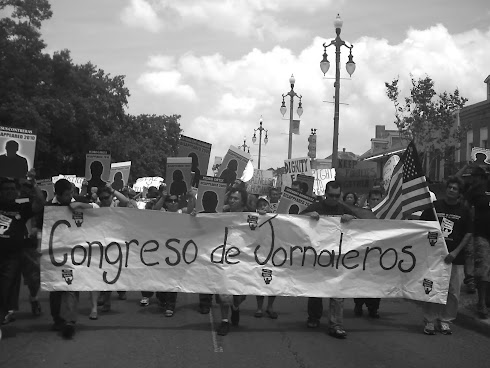 THE CONGRESS OF DAY LABORERS ON RAMPART STREET FOR MAY 1, 2011 MARCH