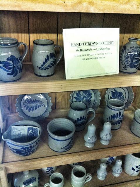 Westwaki and Williamsburg pottery