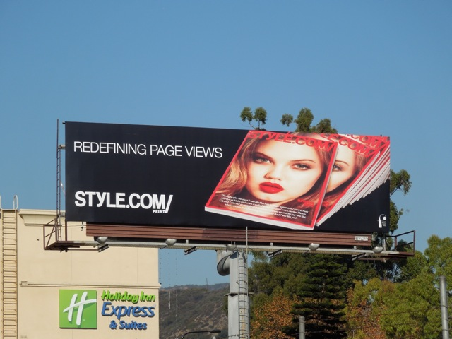 Stlye website page views billboard