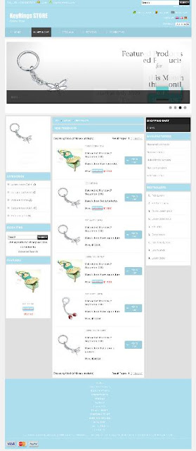 Eyeful Design Free osCommerce 2.3.3 Template for Keyrings Store