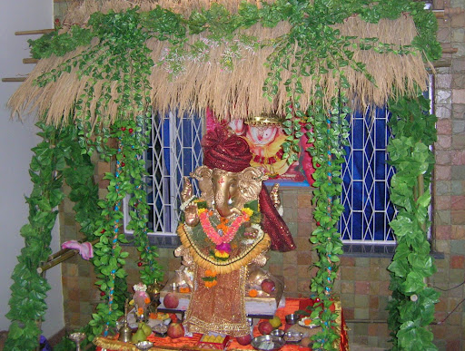Wall Decoration Ideas For Ganpati : Ganpati decoration at home ideas god wallpapers