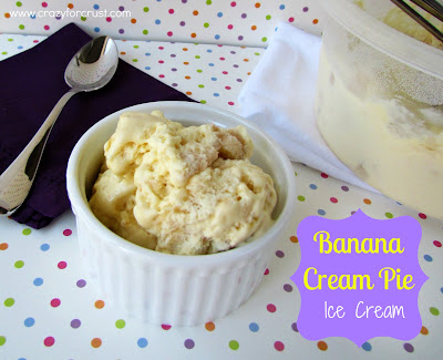 Recipe: Banana cream pie ice cream {without a machine!}