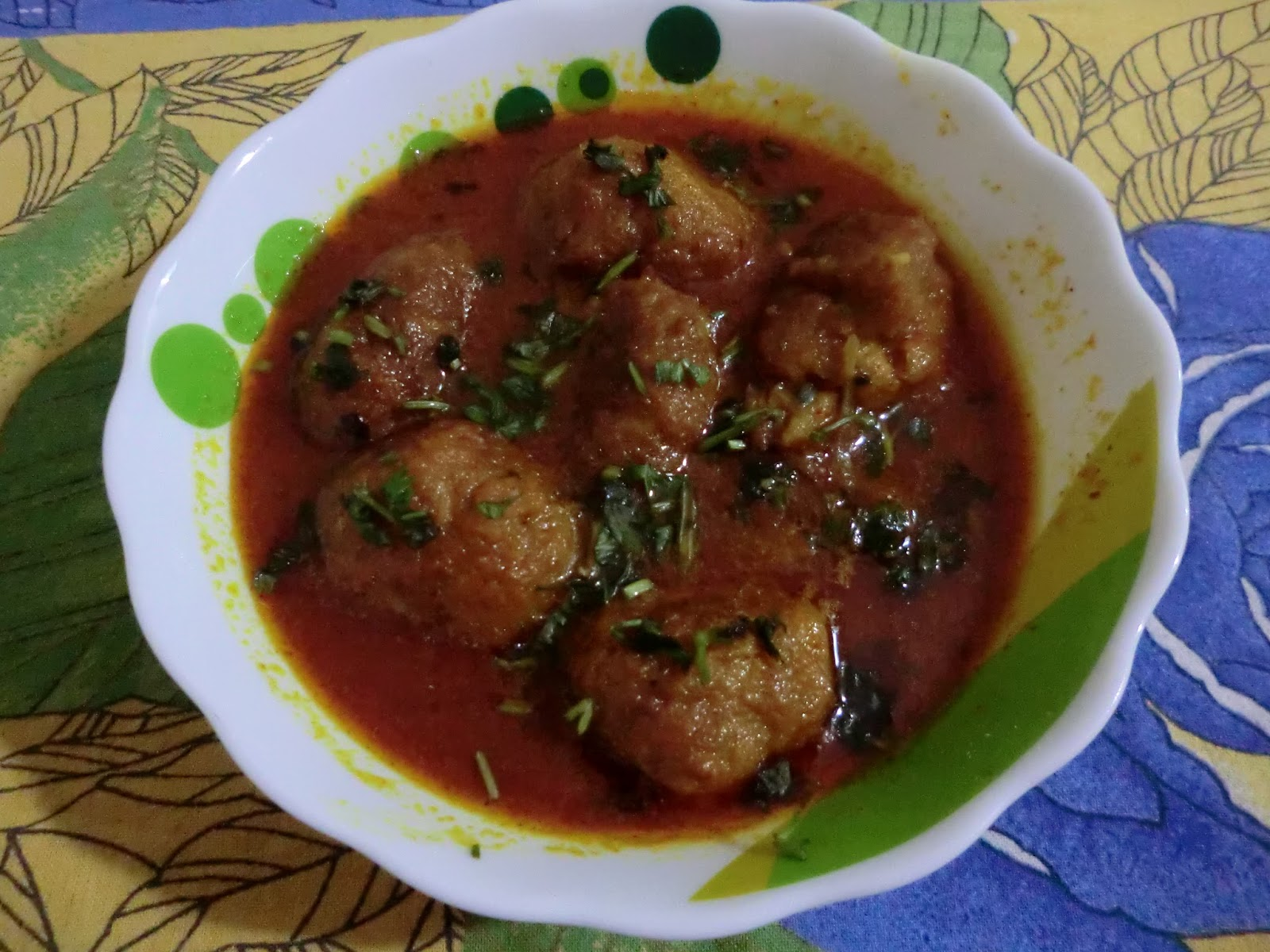 Hema's Musings: pumpkin kofta curry