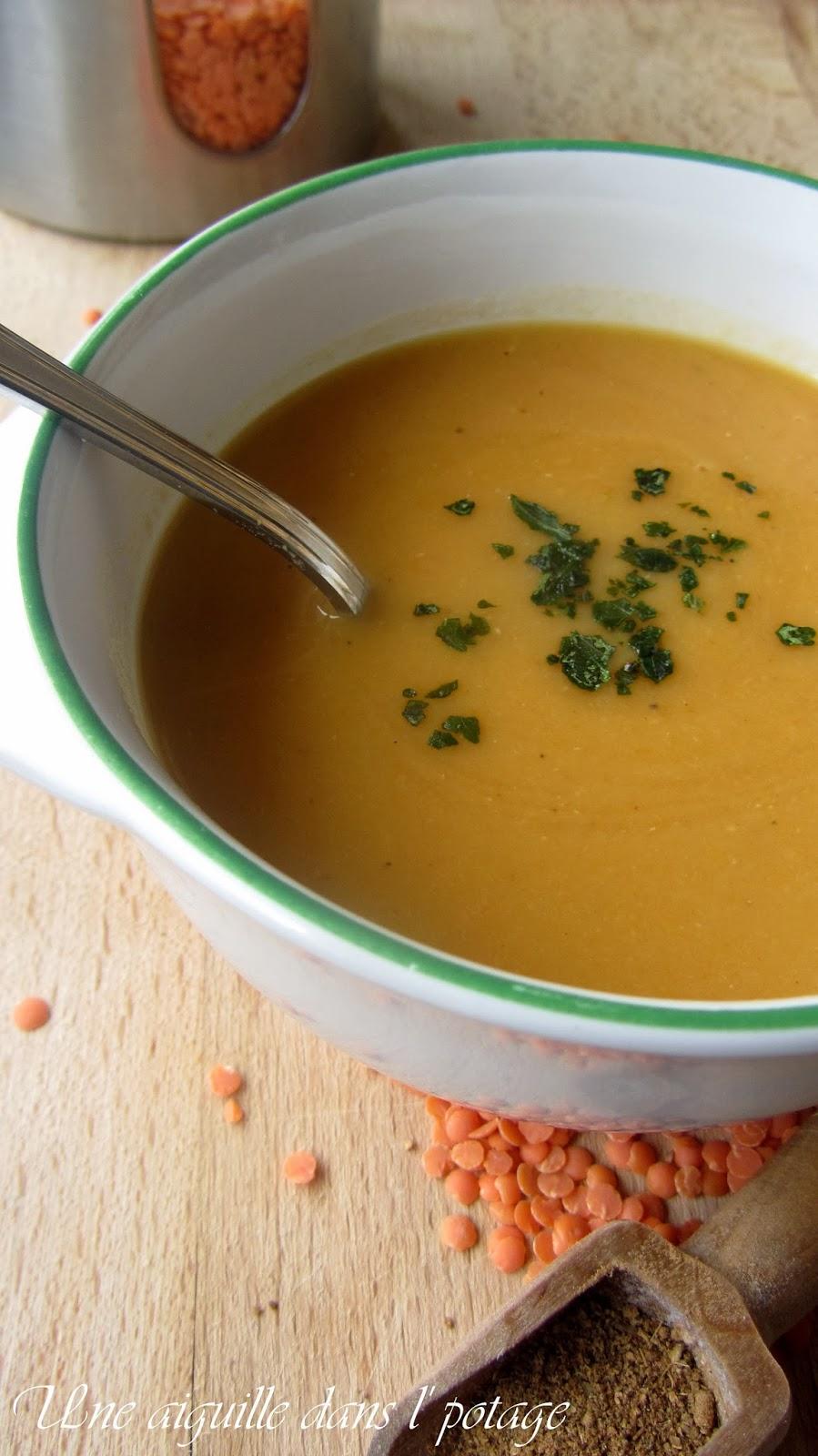 une aiguille dans l 39 potage soupe de carottes et lentilles corail au garam masala. Black Bedroom Furniture Sets. Home Design Ideas
