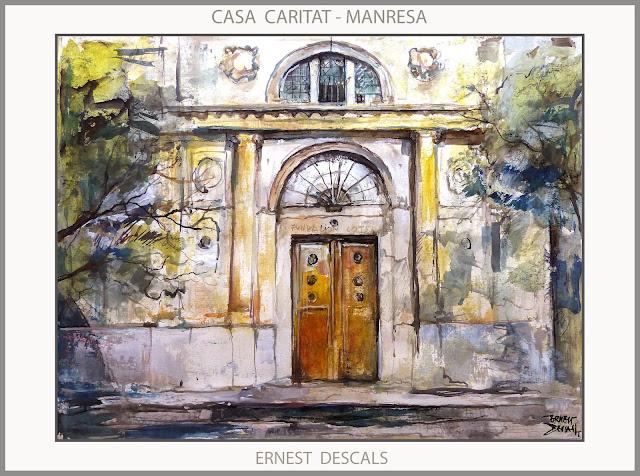 CASA CARITAT-MANRESA-PINTURA-PAISATGES-PINTURES-PATRIMONI-PORTA-QUADRES-ARTISTA-PINTOR-ERNEST DESCALS-