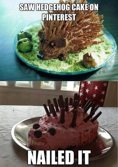 Saw hedgehog cake on pinterest, nailed it.
