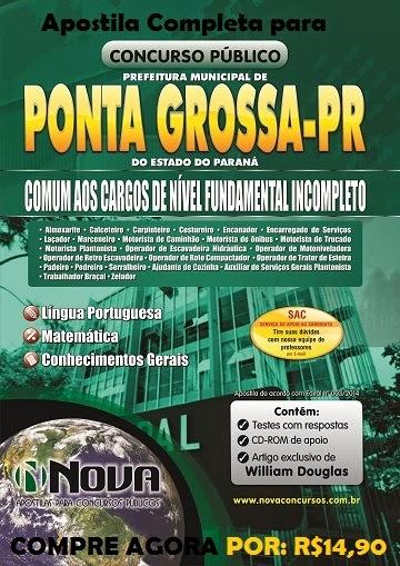 Apostila para o Concurso Prefeitura de Ponta Grossa - PR 2014