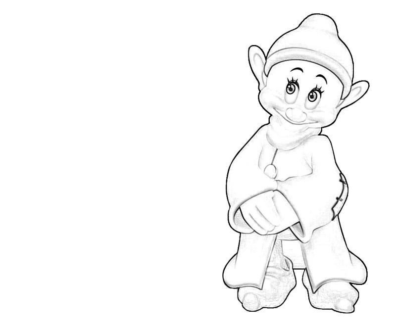 coloring pages of dopey - photo#19