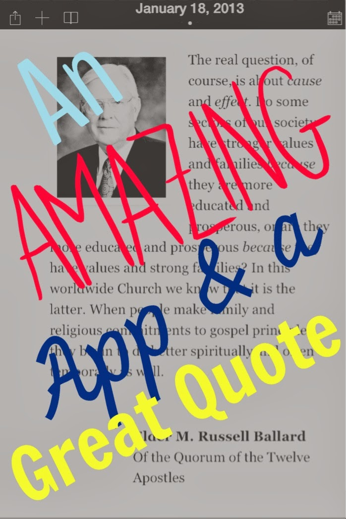 An awesome app! Plus a great quote!