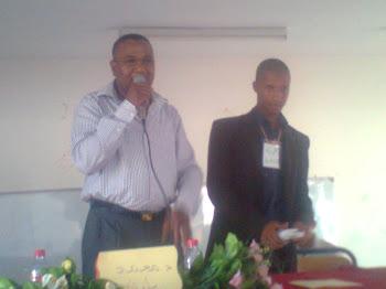 لحظة تكريم محمد بازي - طلبة الدراسات الأدبية بجامعة ابن زهر