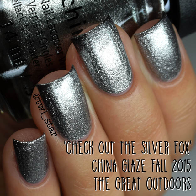 China Glaze The Great Outdoors Fall 2015 Check Out The Silver Fox