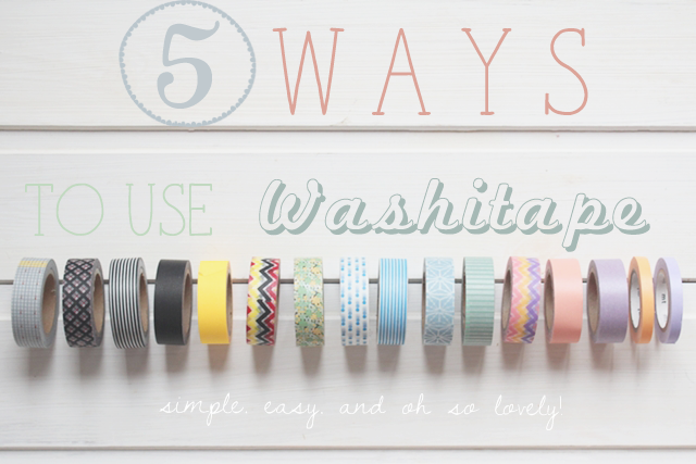 5 ways to use washi tape masking tape magnoliaelectric. Black Bedroom Furniture Sets. Home Design Ideas