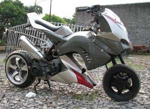 Modifikasi Suzuki Skydrive 125 | Motorcycle Modification