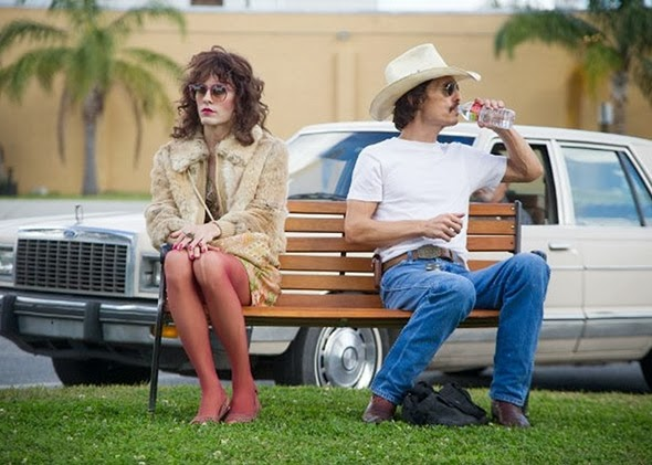 Jared Leto & Matthew McConaughey in Dallas Buyers Club movie still