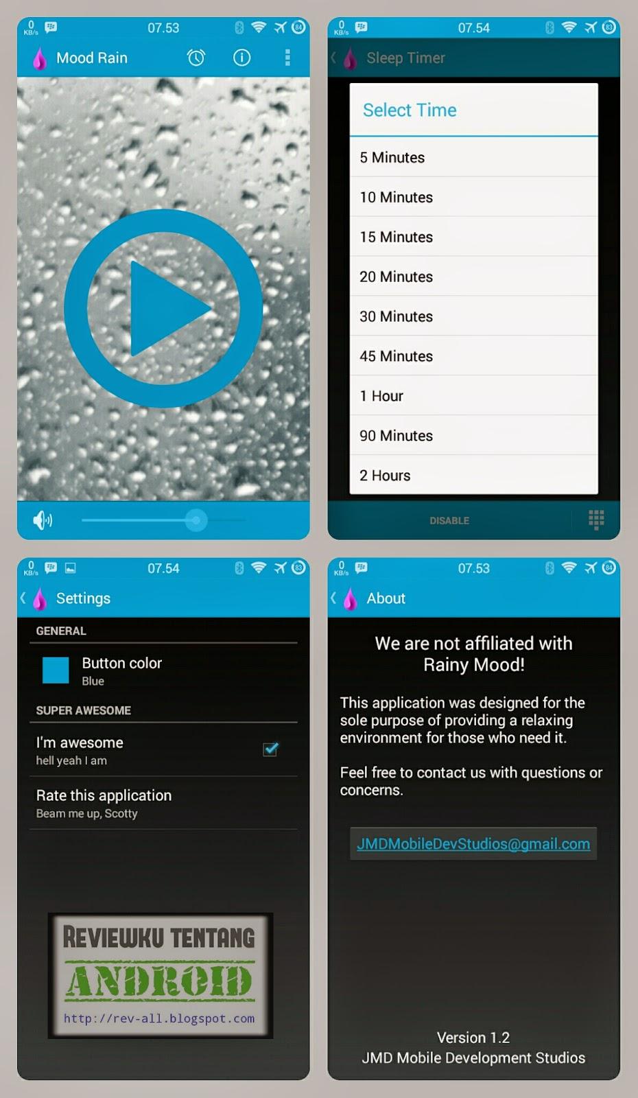 Tampilan Mood Rain - aplikasi android suara hujan dan guntur gratis (rev-all.blogspot.com)