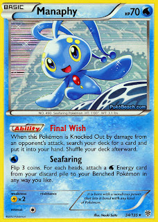 Manaphy Plasma Storm Pokemon Card