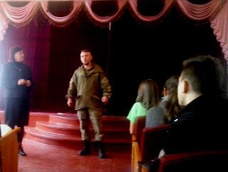 Зустріч учнів ліцею з воїном АТО