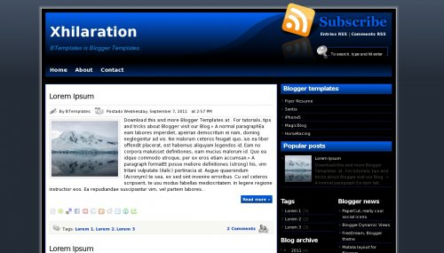 Xhilaration Blogger Template