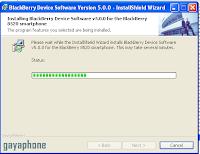 proses install blackberry os
