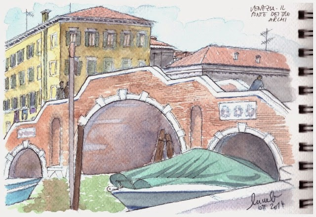Urban sketchers italy un giorno a venezia con gli amici for Disegni di ponte anteriore