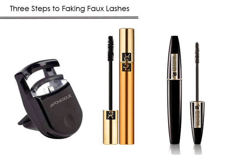 How to fake faux eyelashes glam lashes japonesque yves saint laurent lancome