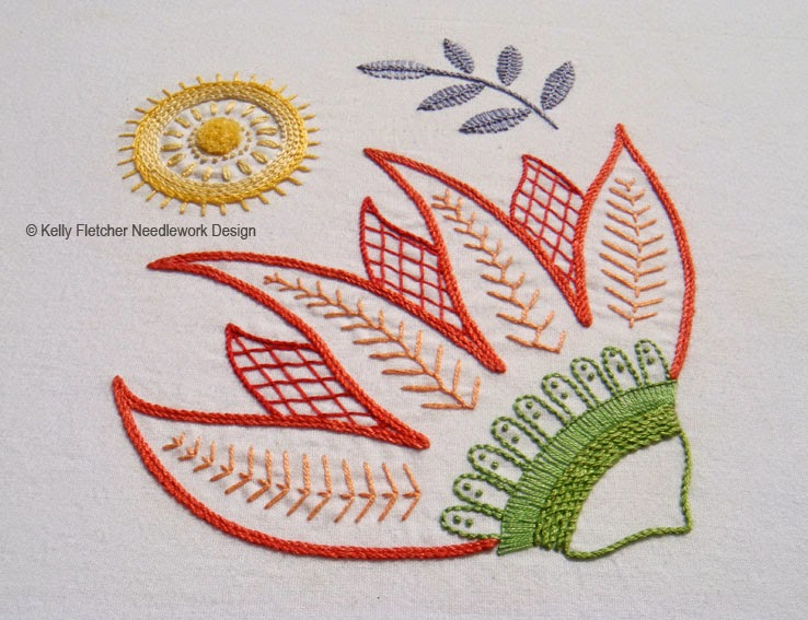 Materialistic New Modern Jacobean Hand Embroidery Patterns