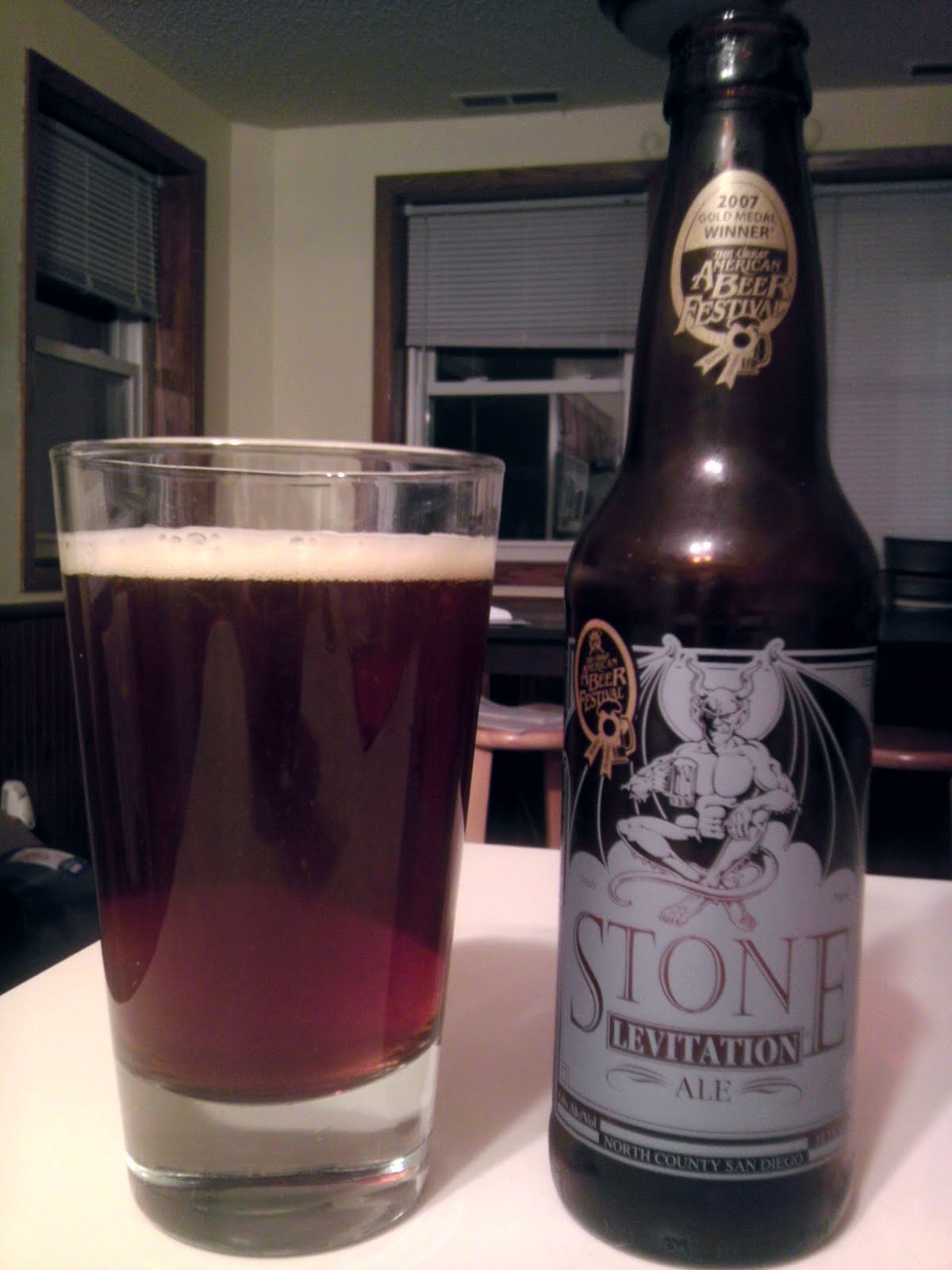 Stone Levitation Ale : Late night beeradvocate tuesday page