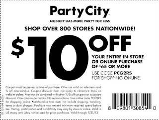 party city printable coupons