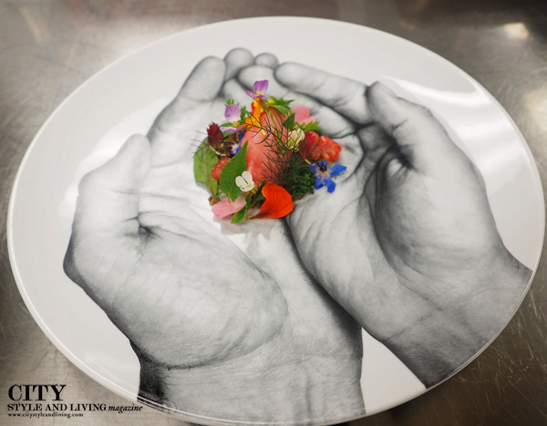 Chef Jason Bangerter creates a colourful plate of foraged ingredients