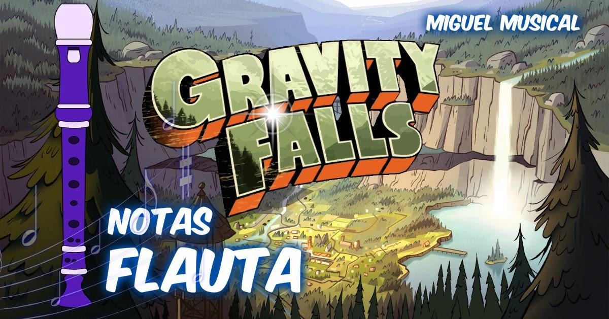GRAVITY FALLS NOTAS FLAUTA DULCE