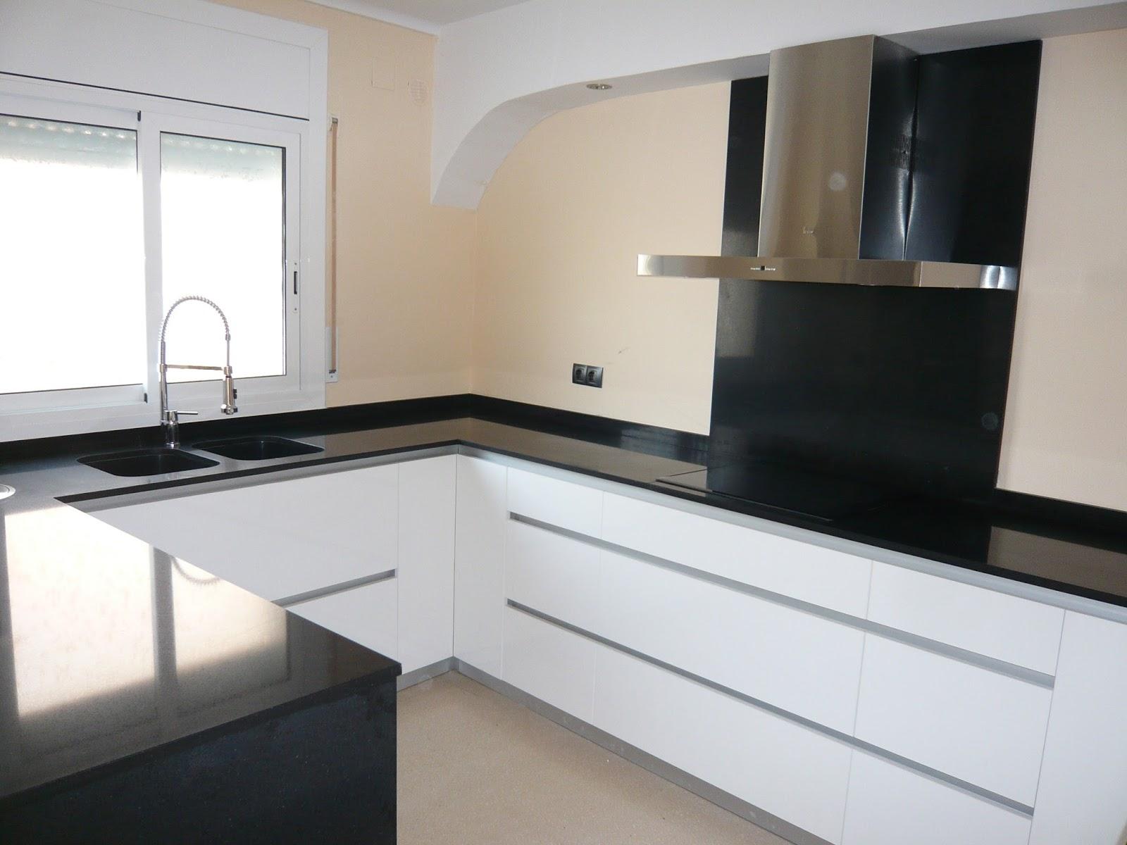 Reuscuina muebles de cocina sin tiradores con isla - Cocinas sin tiradores ...