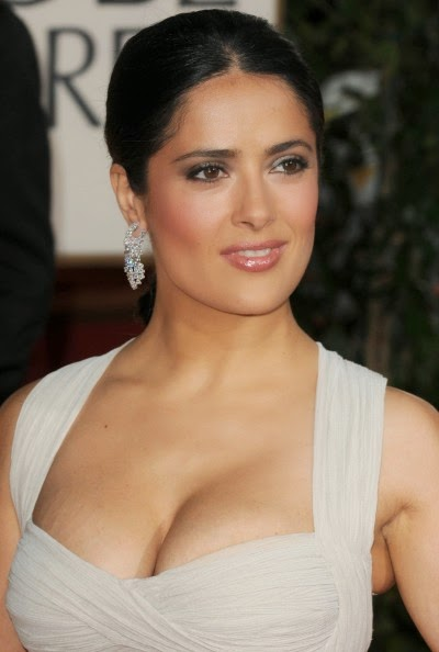 Actress Salma Hayek Hot And Spicy Cleavages Show Stills