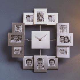 Reloj marcos de fotos de pared relojes de pared - Marcos para pared ...