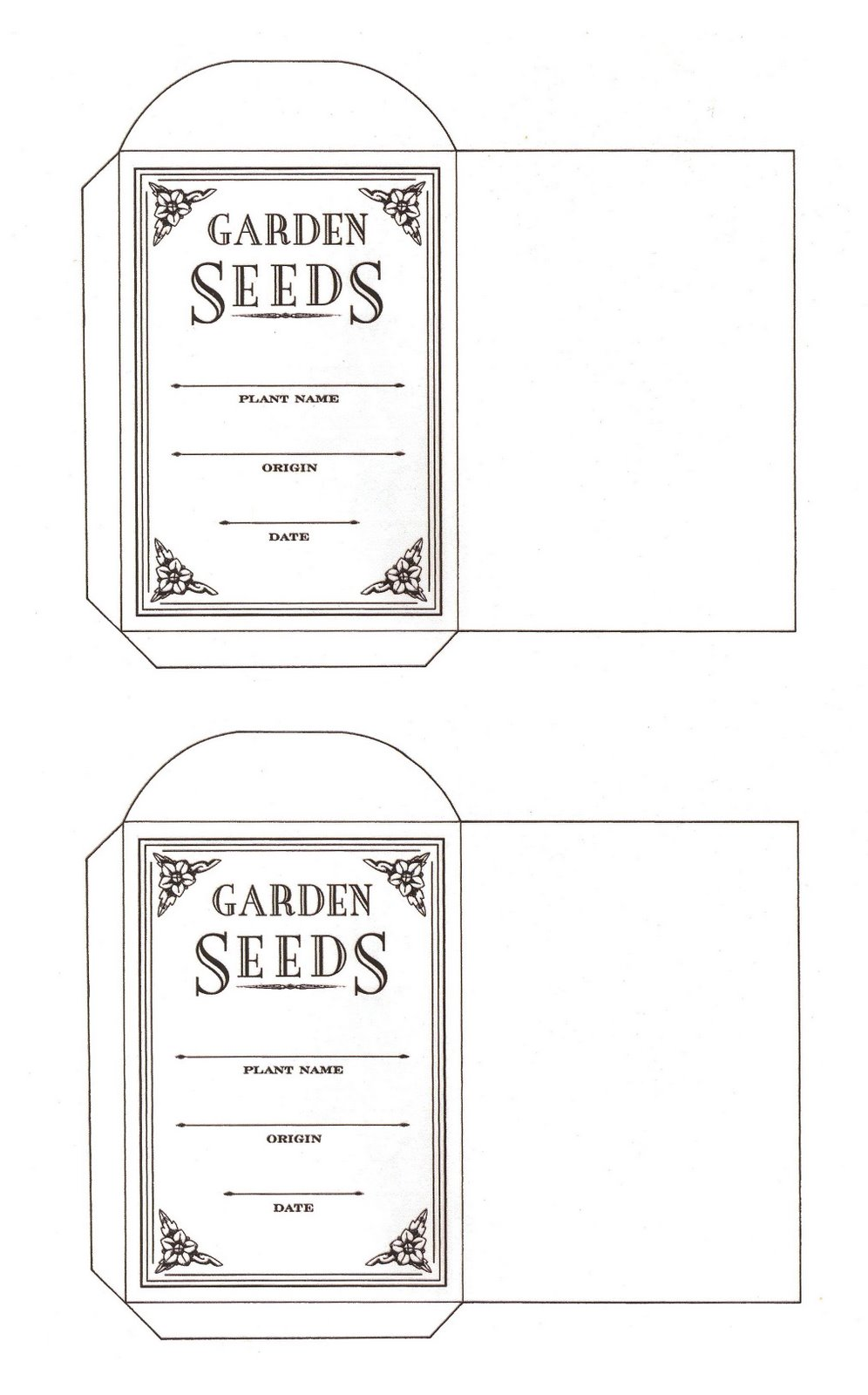 Influential image pertaining to free printable seed packets