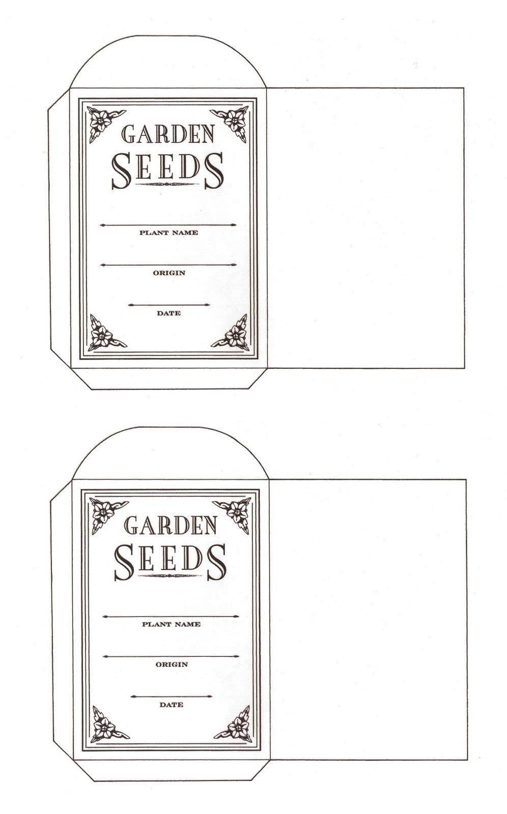 Dramatic image regarding free printable seed packets