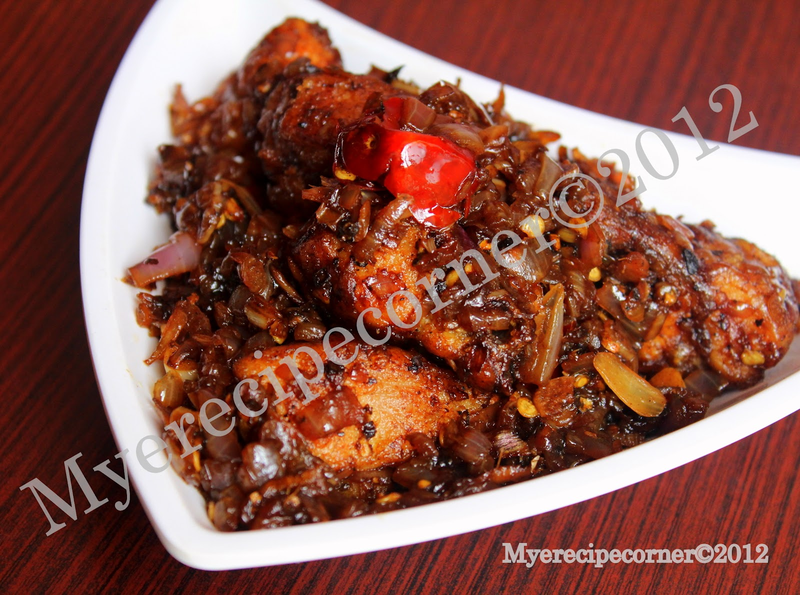 Mye's Kitchen: Pepper Chicken Fry.