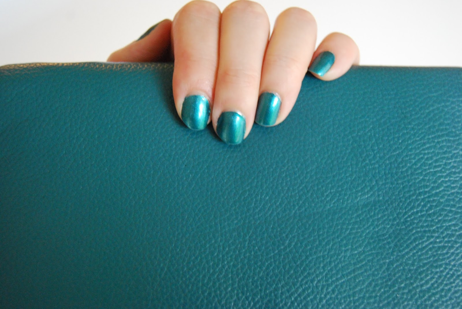 Crafty Thingamabobs Calipso Teal Vs Essie Trophy Wife