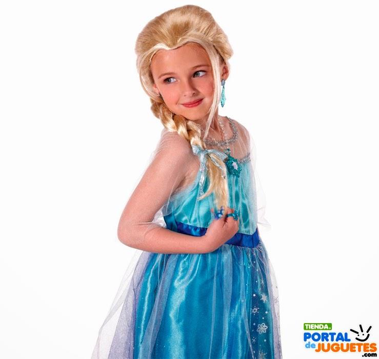 peluca elsa frozen niña para disfraz