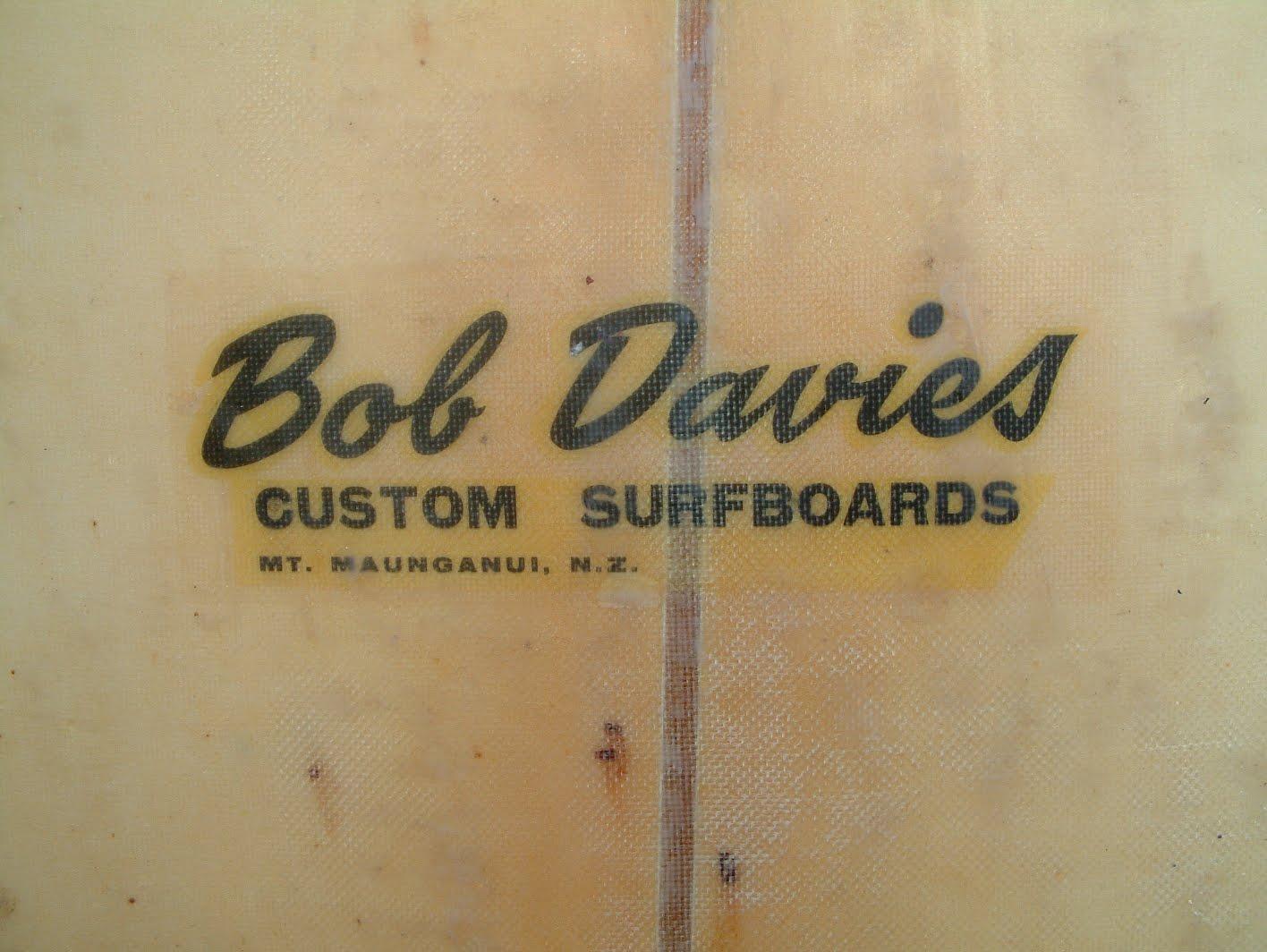 vintage surfboard collector UK 1965 Bob Davies longboard for sale
