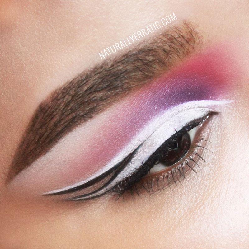 White Eyeliner, NaturallyErratic, Amseleigh, Makeup blog