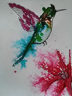 BirdWithFlower-HuesnShades