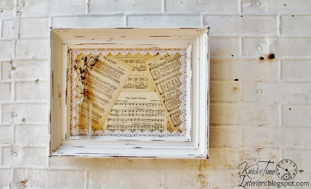 Mixed Media Art Photo Frames Repurposed Book Pages Lavendar Apothecary Bottles Lace via KnickofTimeInteriors.blogspot.com
