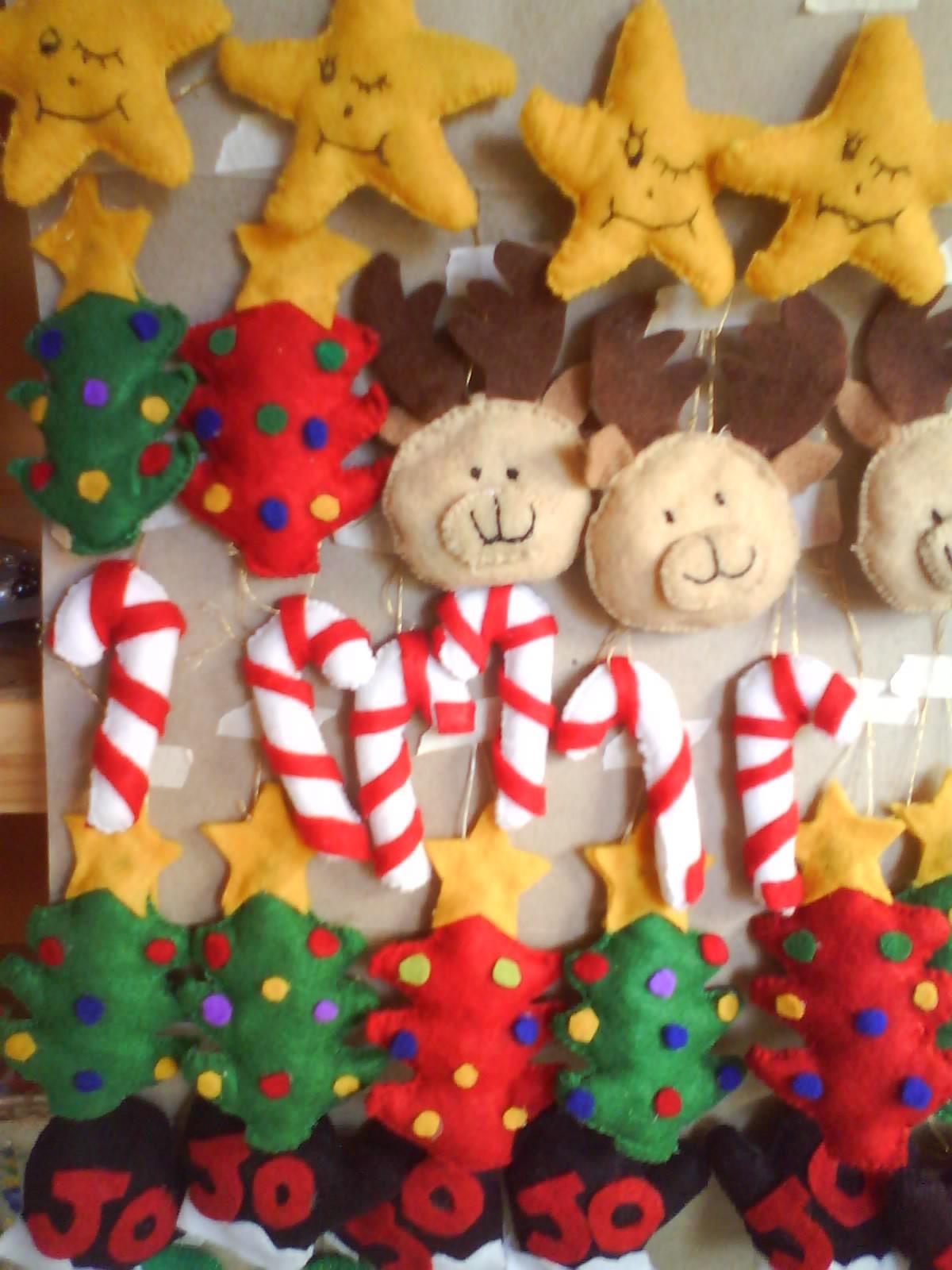 Bienvenidas a karla la artesana adornos para el arbol de - Adornos de navidad de fieltro para el arbol ...