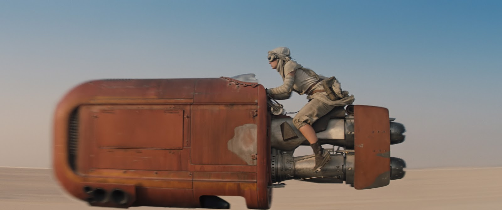 Star Wars: The Force Awakens Daisy Ridley on a Jet Cycle