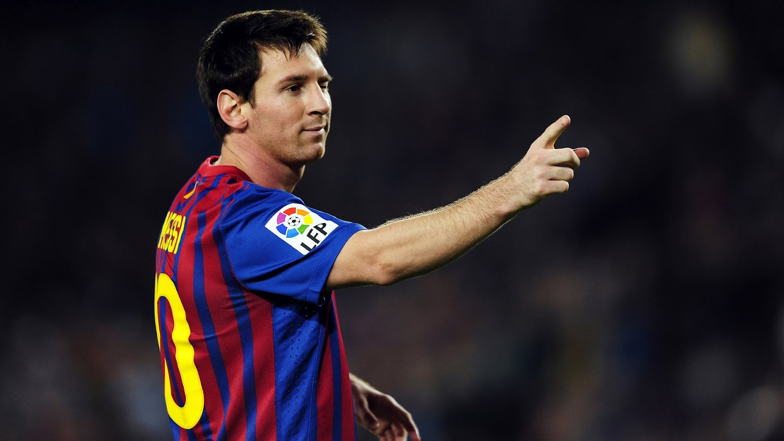 Lionel Messi 10 Wallpaper 2012