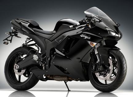 Black Kawasaki Ninja Motorcycle