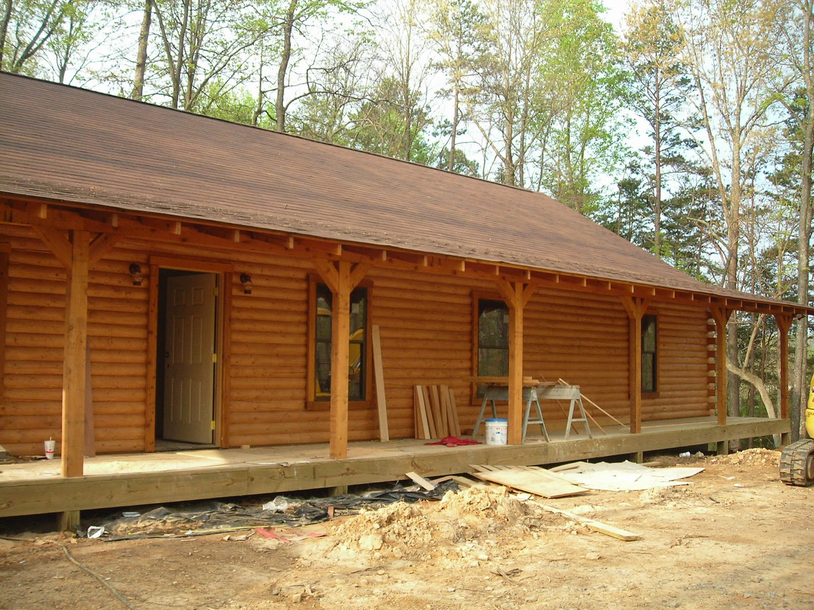 Log Home With 10 East Tn Acres Building Of Log House