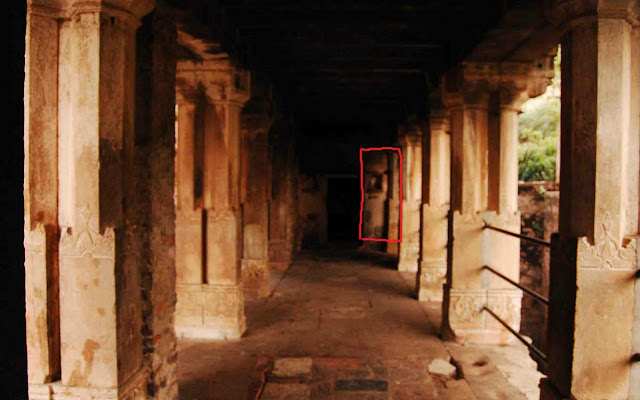 A Corridor around Baoli in Bhangarh Fort with natural face like structure