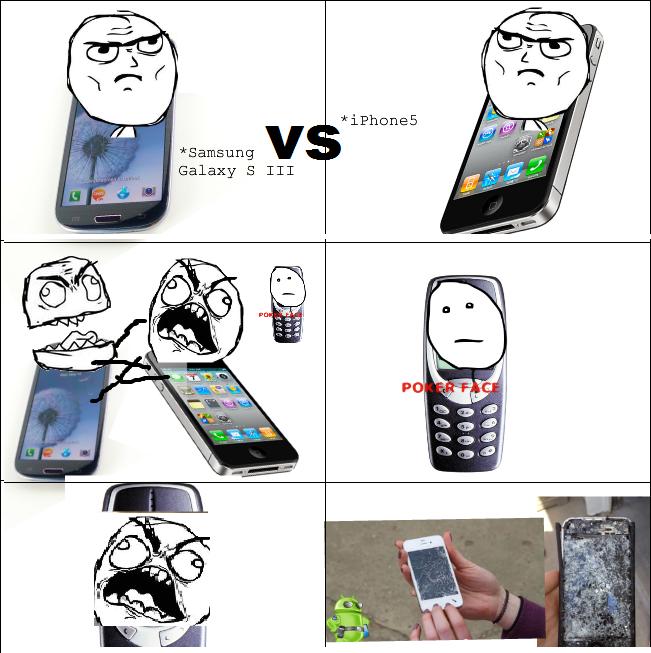 ragecomic212 unny memes and rage comics iphone 5 vs samsung galaxy s iii